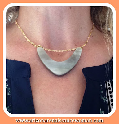 Soko Bondo Curved Horn Necklace - Stitch Fix Review September 2015
