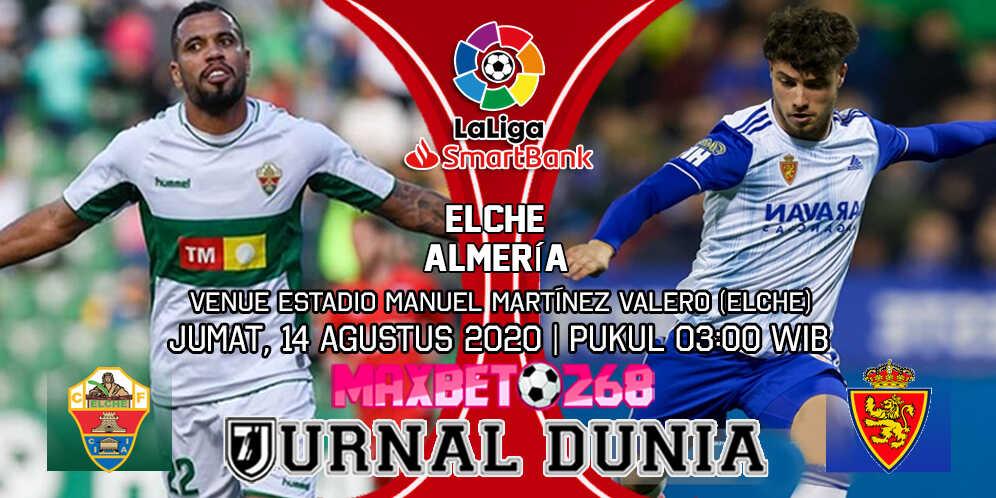 Prediksi Elche vs Real Zaragoza 14 Agustus 2020 Pukul 03:00 WIB