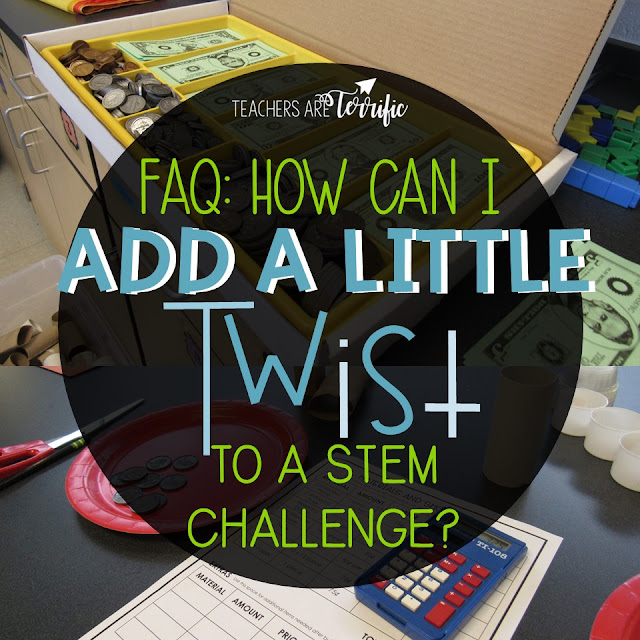 STEM Challenge blog post to help you add a little zest to any activity to make it even more engaging and add some skills (math). #teachersareterrific