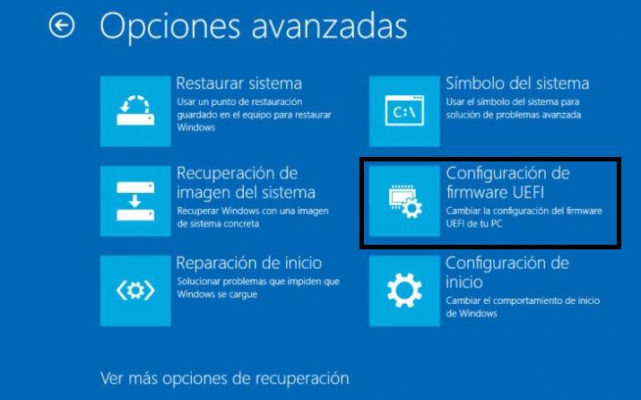 como ingresar a la BIOS en Windows 10