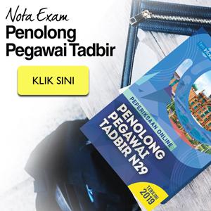 Nota Exam Penolong Pegawai Tadbir