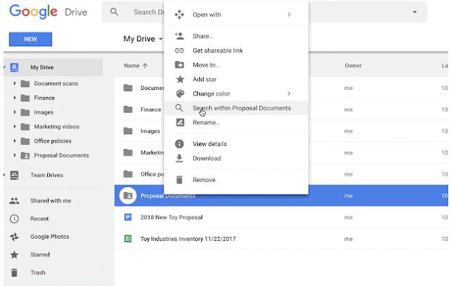 Nueva función Google Drive