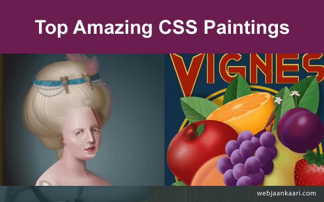 The Best HTML & CSS Amazing Web Art Designings Tricks