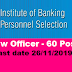 60 posts of Law Officer - Institute of Banking Personnel Selection (IBPS) - last date 26/11/2019