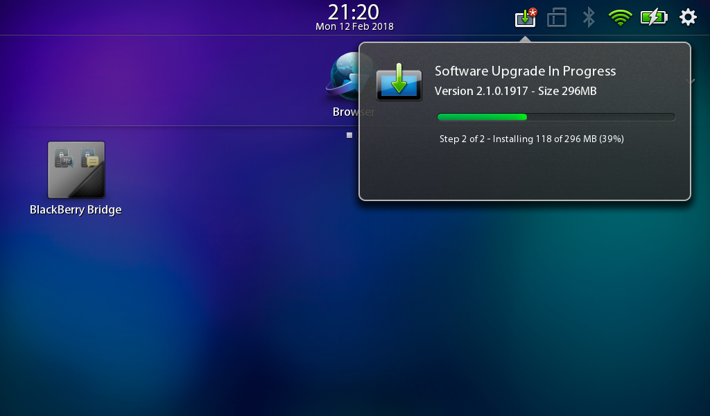 BlackBerry PlayBook OS Update Error 404