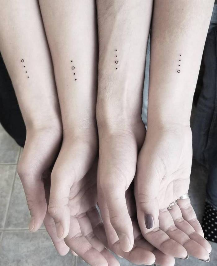 Simple tattoos for friends and family