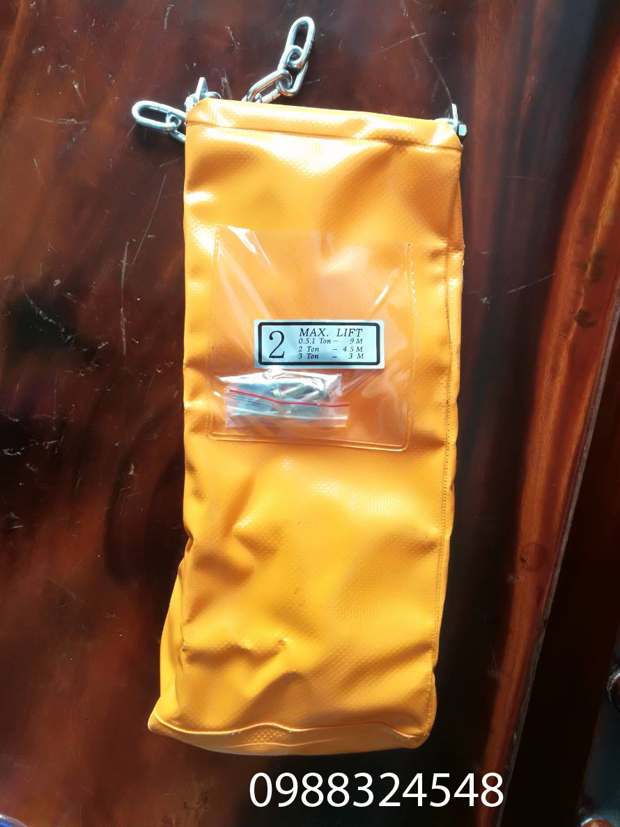 Túi đựng xích cho pa lăng điện xích 2 tấn