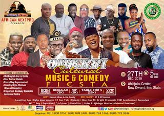 EVENT: Bright Chimezie, Egbe Igwe, Shama Melody, Sarowiwa, others, set for Owerri Cultural Music & Comedy Fiesta