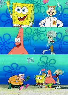 Polosan meme spongebob dan patrick 78 - invicible boat mermaidman