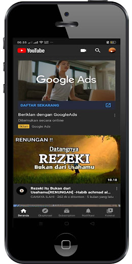 cara seting mode gelap youtube di android smartphone