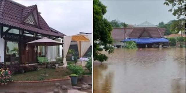 Rumah Neno Warisman Kebanjiran