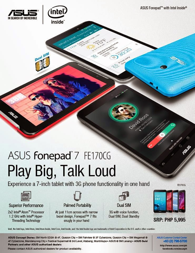 ASUS Fonepad 7 FE170CG: Specs, Price and Availability