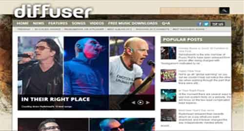 Diffuser Magazine Blogger Template