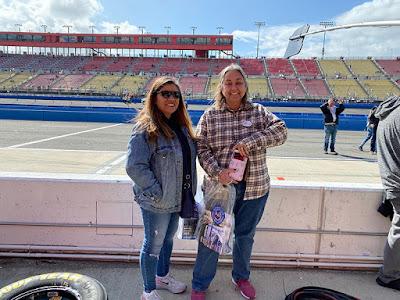 Myrna and I at Auto Club Speedway, Fontana, Califoria #NASCAR #MENCS