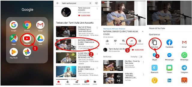 cara menyimpan video youtube ke galeri