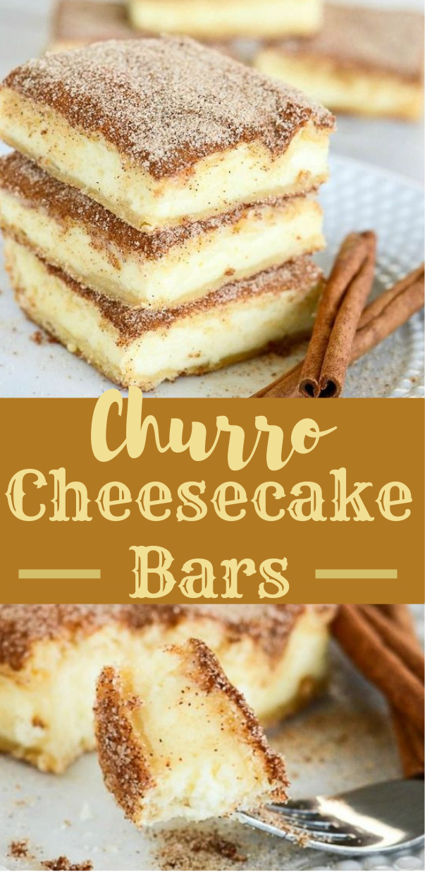 Churro Cheesecake Bars #bars #dessert