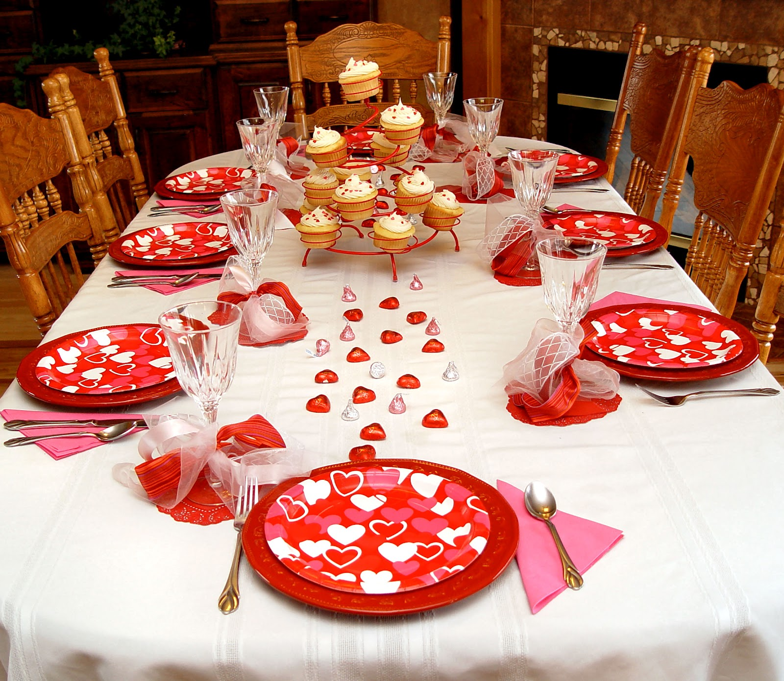 Family Valentines Dinner Idea And How To Make A Junk Bow
