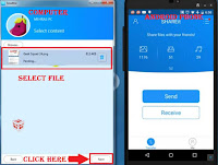 transfer files document by shareit