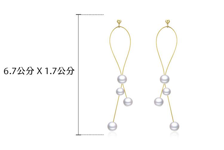 輕盈優雅 925純銀擬珍珠耳環