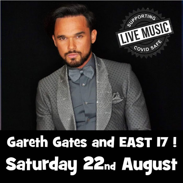 Summer Circle of Fun at the Big Sheep Outdoor Socially Distanced Arena. GARETH GATES & EAST 17 - 22nd August