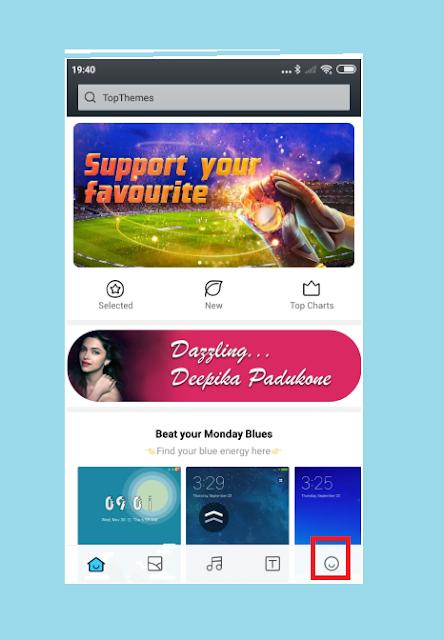 Klik Profil di Aplikasi Themes Xiaomi