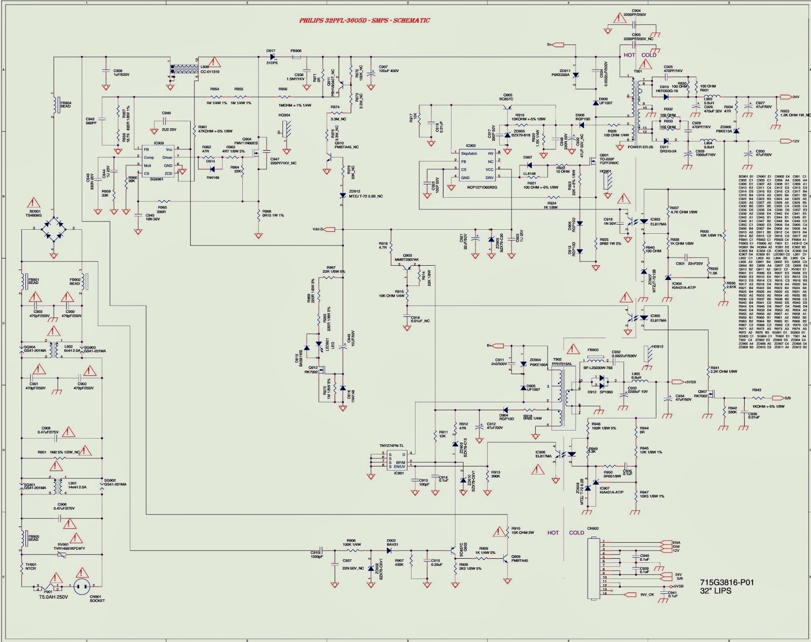 smps schematic diagram 1970 ford f250 wiring philips 32pfl3605d power supply regulator