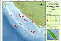 Dua Gempa Tektonik 5,3 dan 5,5 Guncang Samudra Hindia Selatan Lampung