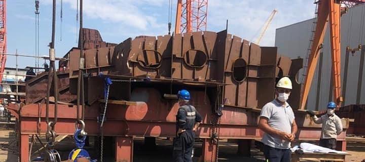 У Туреччині вже формують корпус для корвета ВМС України