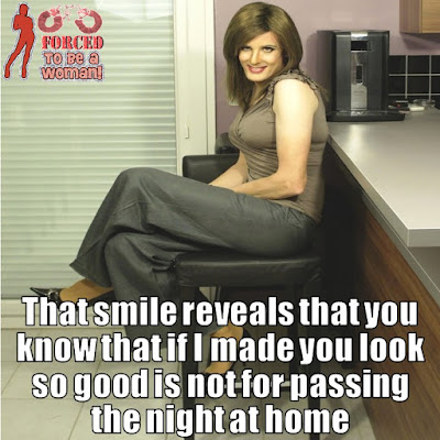That smile reveals - TG Captions and More - Crossdressing and Sissy Tales and Captioned images