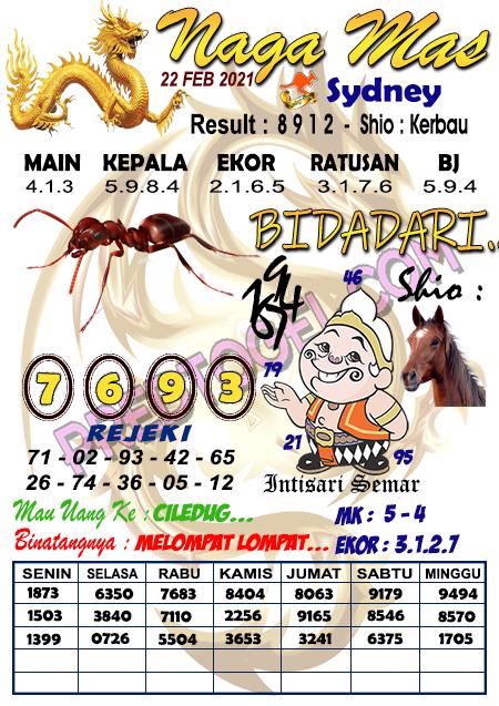 Syair Nagamas Sdy Senin 22 Februari 2021