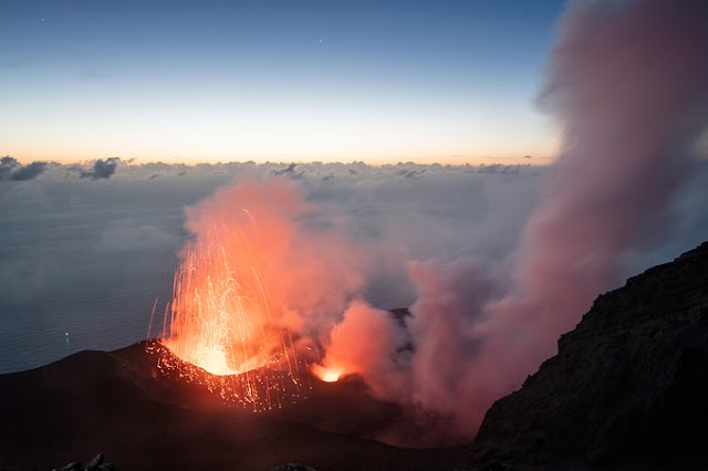 Life at the foot of an active volcano