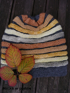 wzór wurm czapka na drutach