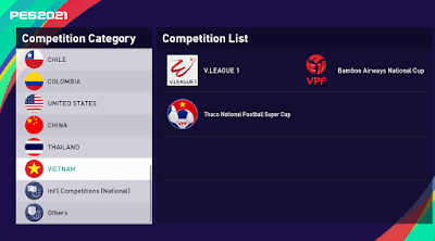 """eFootball PES 2021 - V.League 1 """"Vietnames"""" ( smokepatch21 version 21.3.3 or newer)"""