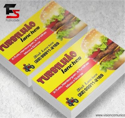 Cartão de Visita Lanchonete Delivery