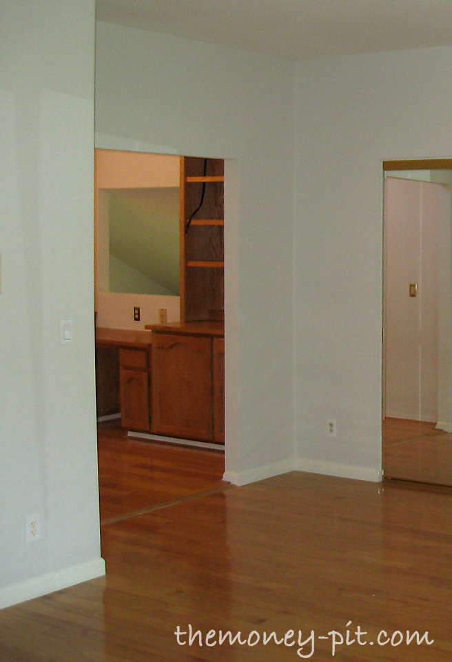 """Adding Privacy With Barn Doors: You Can See That The Other Side Of The """"walk Through"""