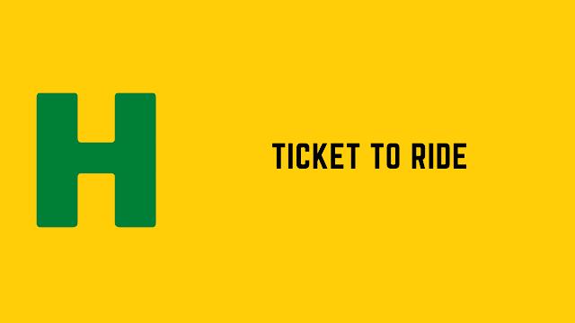HackerRank Ticket to Ride problem solution