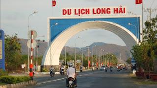 Cổng chào về khu du lịch Long Hải, Huyện Long Điền, Bà Rịa Vũng Tàu