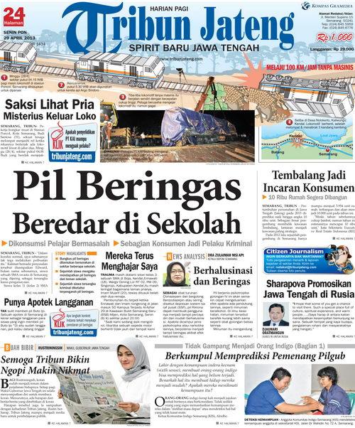 Tribun Jateng edisi perdana, 29 April 2013
