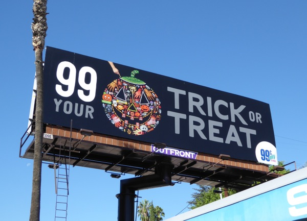 99c Trick or Treat Halloween Jack O Lantern billboard