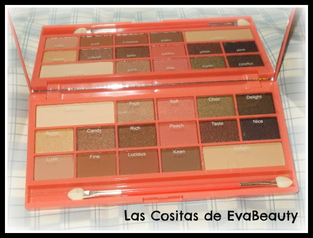 Paleta sombras ojos Chocolate I Heart Makeup maquillaje review swatches