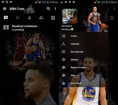 BBM Mod Transparent Stephen Curry v3.2.5.12 APK