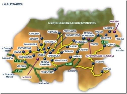 Mapa De La Alpujarra.Pueblos Con Encanto