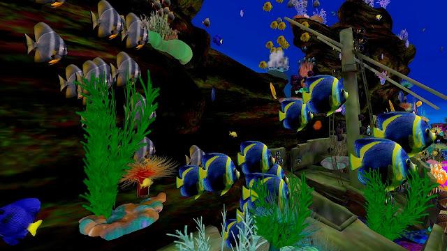 Decoration Aquarium Temple Greque