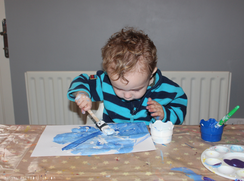snowflake painting for toddlers