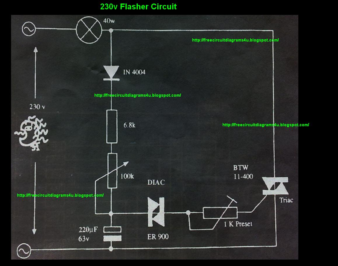 Led 230 V Flasher Circuit Diagram The Simplest Volt Electrical Wiring