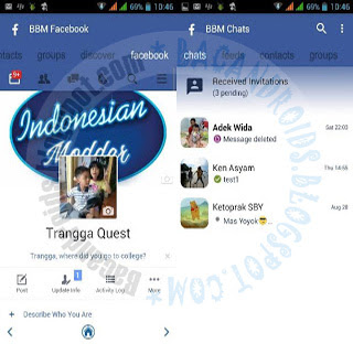 BBM Mod Facebook Theme versi 3.1.25 Apk Terbaru For Android FBUI