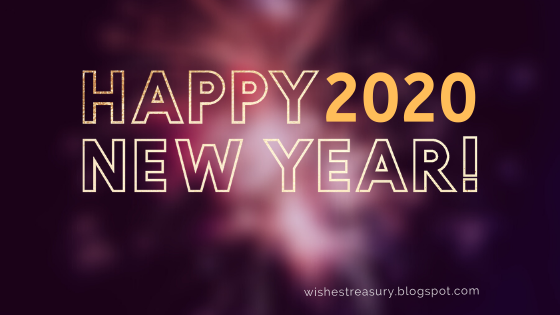 Happy New Year Greeting Card Wishes 2020