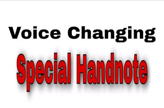 Voice Changing Hand Note PDf Download |Voice change rules PDF