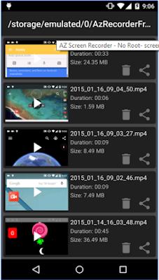 Az recorded Videos