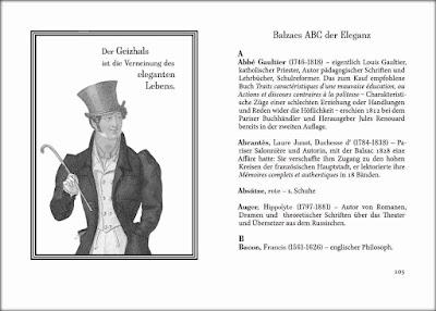 Honoré de Balzac: Über das elegante Leben - Auszug: Balzacs ABC der Eleganz